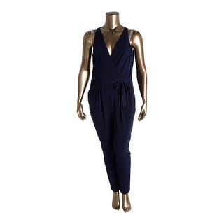 Lauren Ralph Lauren Womens Jumpsuit V-Neck Sleeveless