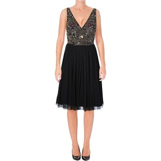 Adrianna Papell Womens Cocktail Dress Beaded Sleeveless (3 options available)