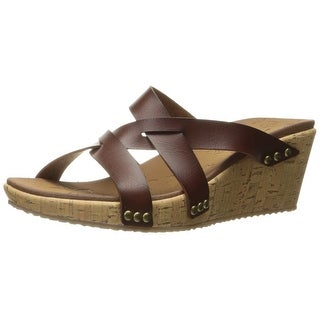 Skechers Cali Women's Beverlee Cactus Flower Wedge Sandal, Brown