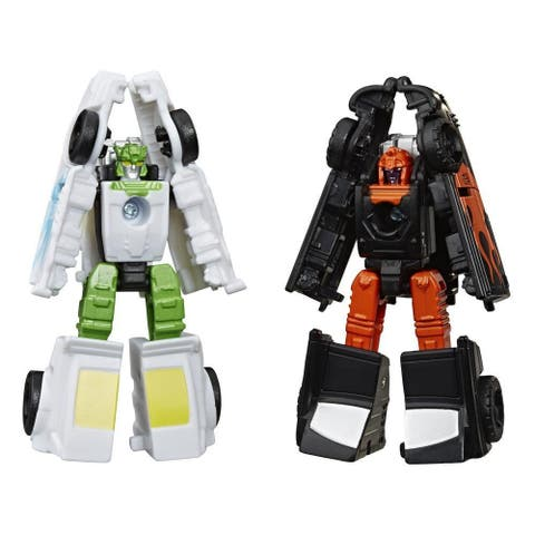 Transformers Toys Generations War For Cybertron: Earthrise Micromaster Wfc-E3 Hot Rod Patrol 2-Pack, 1.5-Inch
