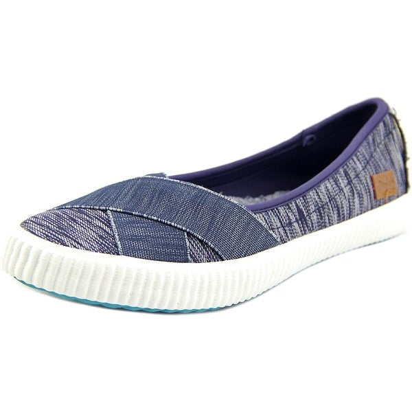 Blowfish Spacey Women Round Toe Canvas Blue Flats