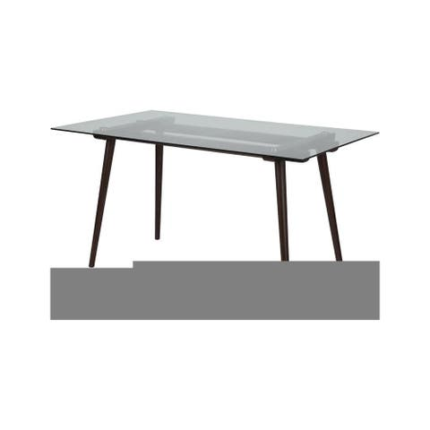 """Delacora FF-SK-17GC-034-GG Meriden 55"""" Wide Dining Table with Clear"""