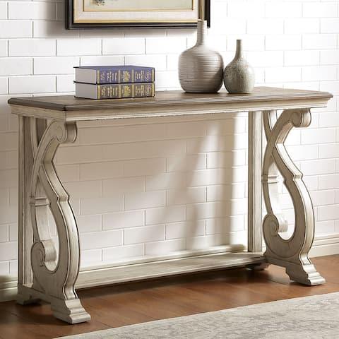 Furniture of America Roah Rustic Wood Sofa Table