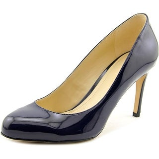 Marc Fisher Universe Women Round Toe Leather Blue Heels