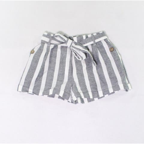 Angie Girl Girls Shorts Blue White Size Small S Striped Tie-Waist