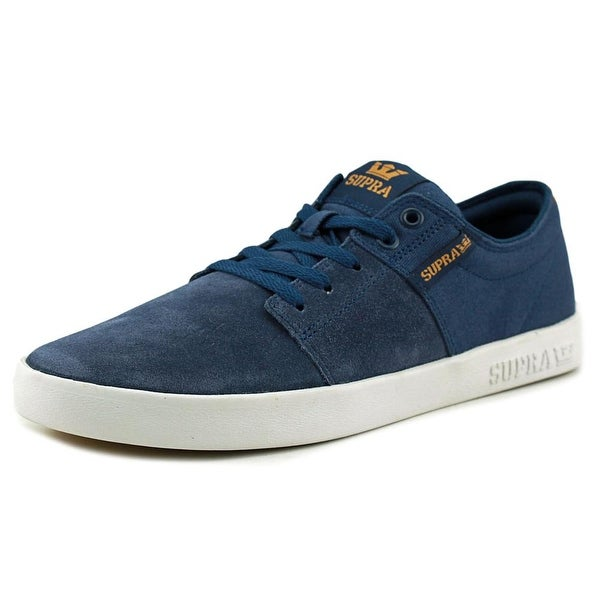Supra Stacks II Men Round Toe Canvas Blue Sneakers