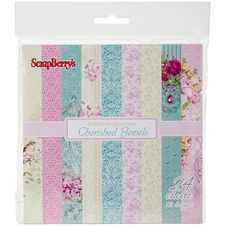 "Scrapberry/'s Tropics Paper Pack 6/""x6/"" 24//pkg-12 Single-sided Designs//2 Each"