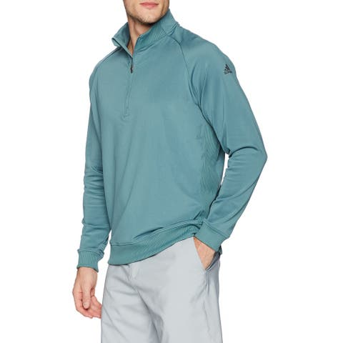 Adidas Men's Sweater Blue Size Medium M 1/2 Zip Classic Club Golf
