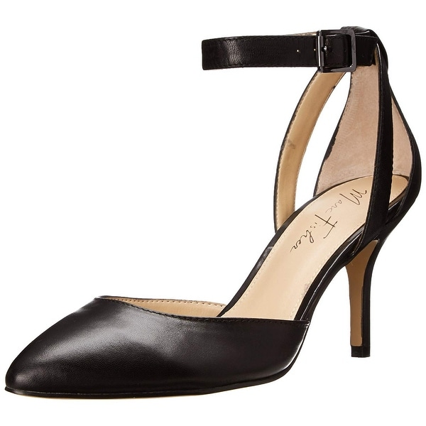 Marc Fisher Womens HIEN Leather Pointed Toe Ankle Strap D-orsay Pumps