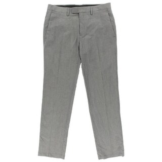 Kenneth Cole Mens Dress Pants Linen Blend Slim Fit