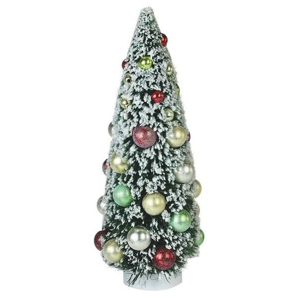"12"" Frosted Green Sisal Pine Artificial Christmas Table Top Tree"