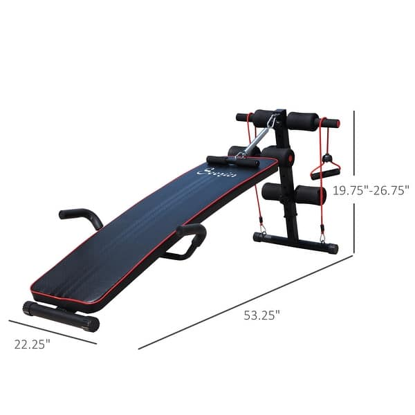 US Multi-Function Curved Fitness Sit Up Bench Home AB Workout Adjustable Decline
