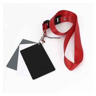 Unique Bargains 3 in1 Digital Gray/White/Black Card Set Photography Exposure Balance Strap