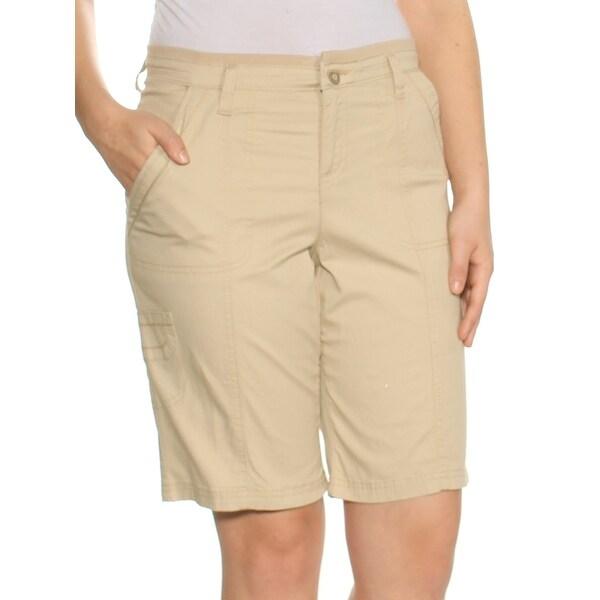 LEE Womens Beige Bermuda Short Size: 4
