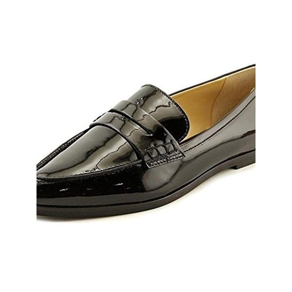 5f42bf9e06c MICHAEL Michael Kors Womens Connor Penny Loafers Patent Leather Almond Toe