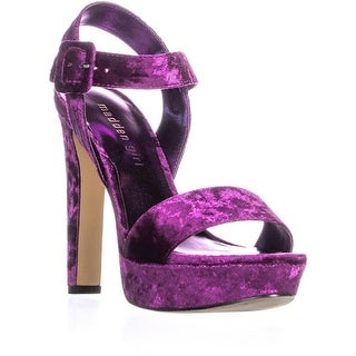 madden girl Rollo Heeled Sandals, Fuchsia - 6.5 us