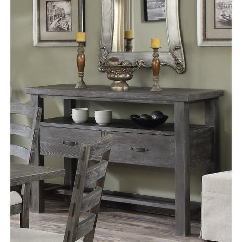 The Gray Barn Snowshill Rustic Charcoal Grey Buffet