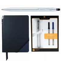 Cross Click Chrome Ballpoint Pen with Ballpoint Refill (2-Pack) and Journal