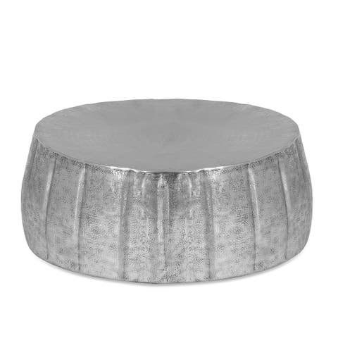 """Larrick Handcrafted Modern Aluminum Pumpkin Coffee Table by Christopher Knight Home - 29.50"""" L x 29.50"""" W x 11.75"""" H"""