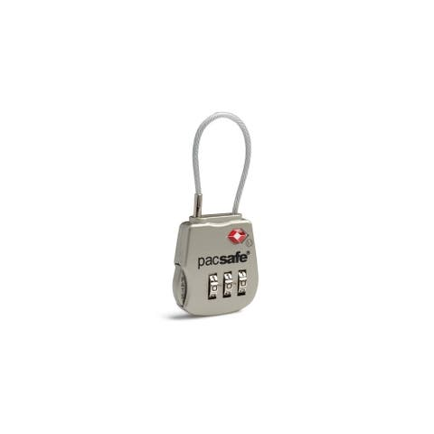 Pacsafe Prosafe 800 - Silver TSA Accepted 3-dial Cable Lock (Single Pack)