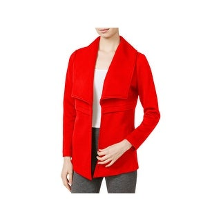 Kensie Womens Open-Front Blazer Textured Solid