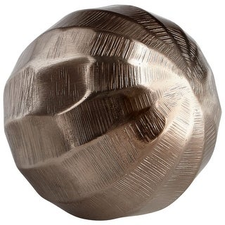 "Cyan Design 08929S  Andromeda 3-1/4"" Diameter Aluminum Decorative Sphere - Bronze"
