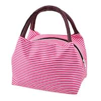 Outdoor Linen Cotton Food Storage Pouch Bento Lunch Bag Cooler Tote