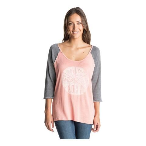 Roxy Womens Fall Road Baseball Graphic T-Shirt, Orange, X-Small