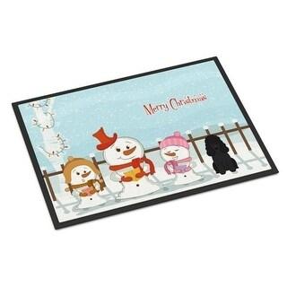 Carolines Treasures BB2402JMAT Merry Christmas Carolers Poodle Black Indoor or Outdoor Mat 24 x 0.25 x 36 in.