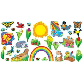 Trend Enterprises Spring Things Bulletin Board Set, 17-3/8 X 11-1/2 in, for Use with 3 - 9 Years, Set of 31