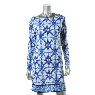 MICHAEL Michael Kors Womens Printed Long Sleeve Wear to Work Dress