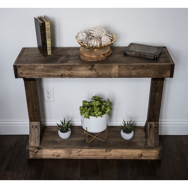 Barb Small Rustic Solid Wood Console Table by Del Hutson Designs. Opens flyout.