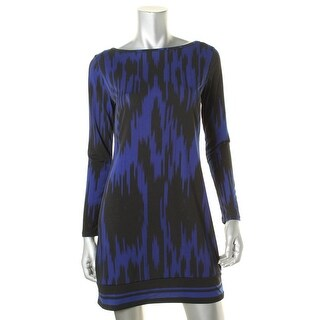 MICHAEL Michael Kors Womens Petites Printed Long Sleeves Casual Dress - pm