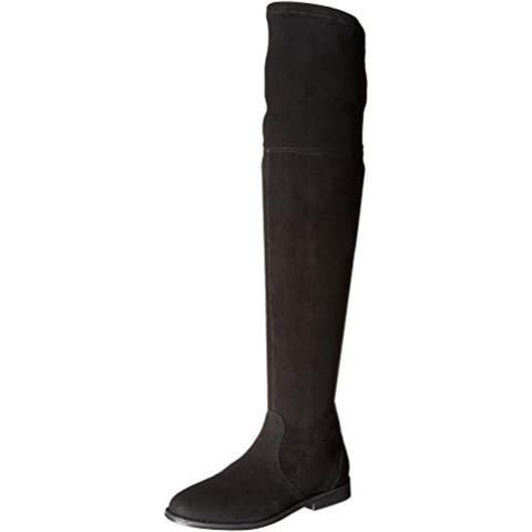 Gentle Souls by Kenneth Cole Womens Emma Thigh-High Boots Suede Round Toe