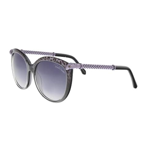 Roberto Cavalli RC979S 20B TANIA Purple/Black Round Sunglasses - 57-18-135