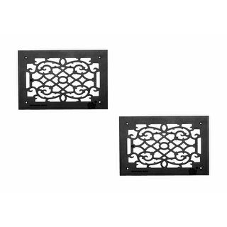2 Heat Air Grille Cast Victorian Overall 10 x 14