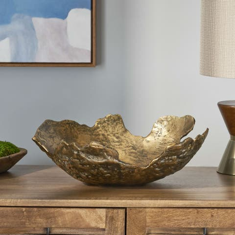 Parrott Indoor Aluminum Handcrafted Decorative Bowl by Christopher Knight Home