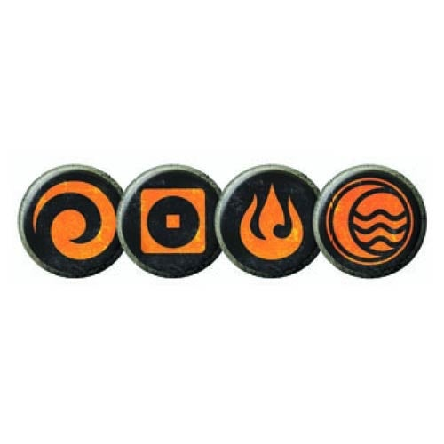 The Legend Of Kora Pin Set - Orange