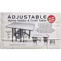"Sullivans Home Hobby Adjustable Height Foldable Sewing Machine Table-59""X35.8"" Open"