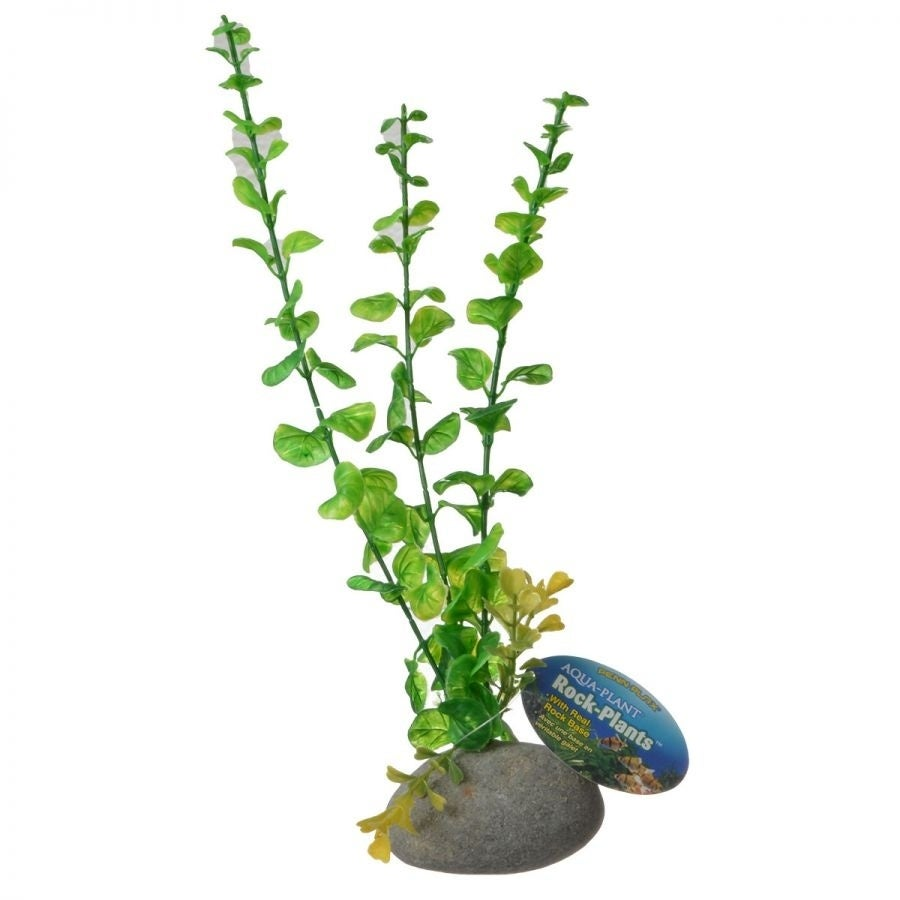 Penn Plax Aqua-Plant Rock Plants - Green -10 High