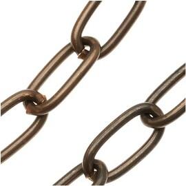Vintaj Natural Brass Chain 11.5mm x 6mm Long Oval Links - Bulk By The Foot