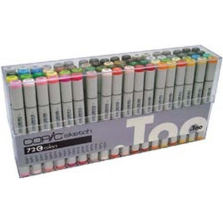 - Copic Sketch Markers 72Pc Set
