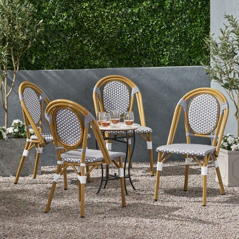 Remi Outdoor French Bistro Chairs (Set of 4) by Christopher Knight Home