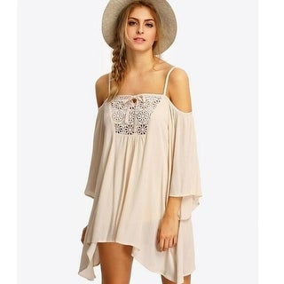 Boho Style Loose Hollow Out Dress A9