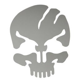 Pilot Automotive Skull Scar Stainless Steel Emblem