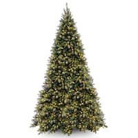 12 ft. Tiffany Fir Medium Tree with Clear Lights - green