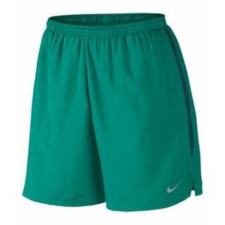 Nike NEW Green Men Size 2XL Dri-fit Challenger Running Drawstring Shorts