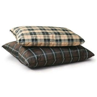 "K&H Pet Products Indoor / Outdoor Single-Seam Pet Bed Large Tan Plaid 35"" x 44"" x 4"""
