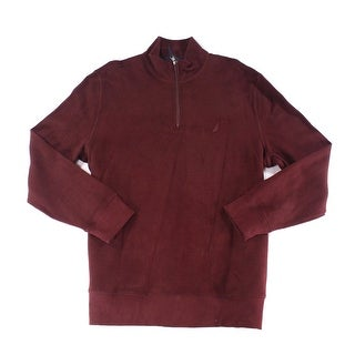 Nautica NEW Red Mens Size 2XL Mock-Neck 1/2 Zip Pull-Over Sweater