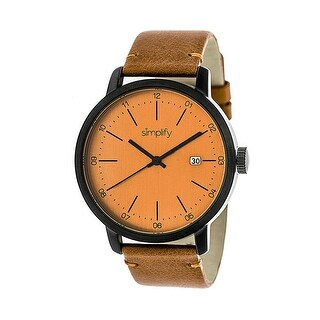 Simplify The 2500 Men's Quartz Watch, Genuine Leather Band